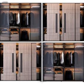现代衣柜组合3d模型【ID:143427441】