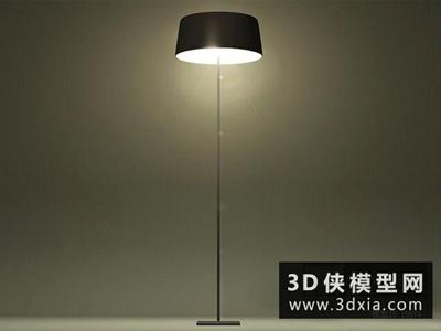 现代金属落地灯国外3D模型【ID:929692093】