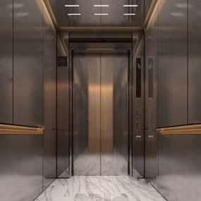 电梯厅下载3D模型【ID:419664913】