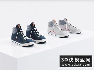 男式鞋子國外3D模型【ID:929820680】