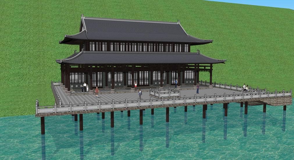 中式古建筑SU模型【ID:836333697】