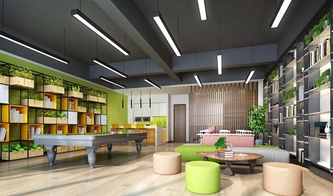 现代办公活动休闲室3D模型【ID:828157173】