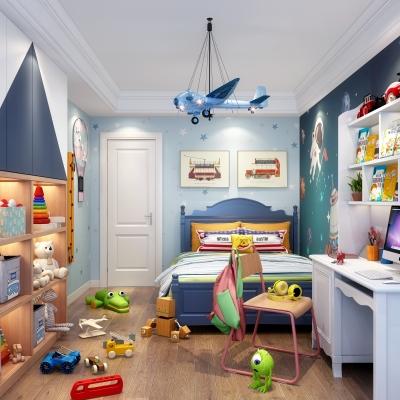 北欧儿童房3D模型【ID:128404293】