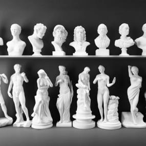 石膏雕像组合3D模型【ID:327913866】