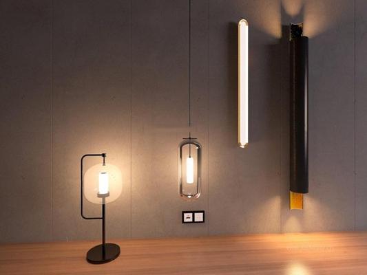 现代玻璃罩台灯3D模型【ID:928005876】