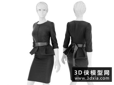 模特国外3D模型【ID:229569348】