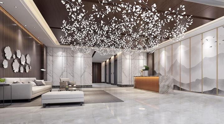 现代大厅3D模型【ID:427982225】