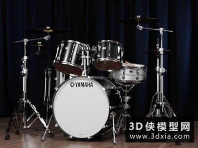 架子鼓国外3D模型【ID:229469053】