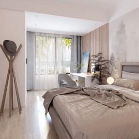 新中式卧室主人房3D模型【ID:128415326】