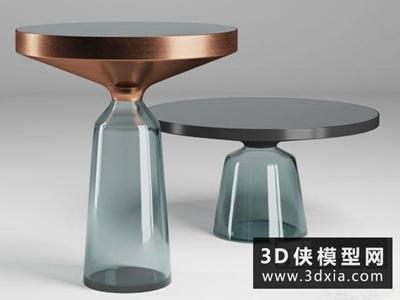 現代茶幾國外3D模型【ID:829537181】