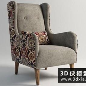 现代单人沙发椅】