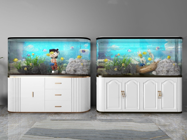 簡歐子彈頭魚缸3D模型【ID:247087575】