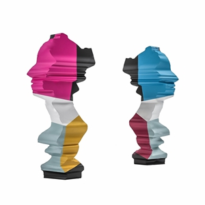 现代抽象人物雕塑3D模型【ID:341805193】