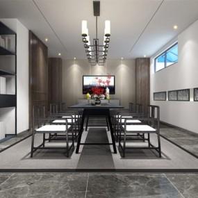 新中式茶室3D模型【ID:327917760】