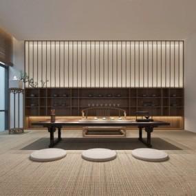新中式茶室3D模型【ID:327918719】