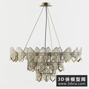 現代吊燈国外3D模型【ID:829459730】