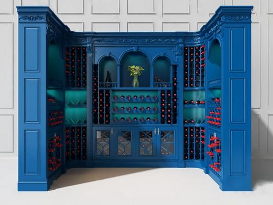 酒柜3D模型【ID:920601010】