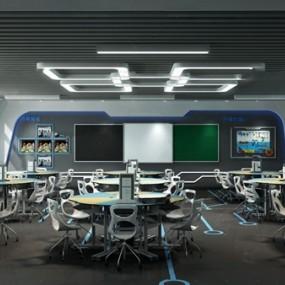 现代科技实验教室3d模型【ID:948245687】