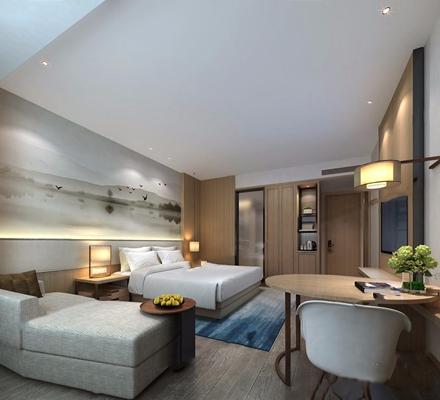 酒店大床房3D模型【ID:427958670】