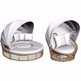 户外藤椅沙发3D模型【ID:928195710】