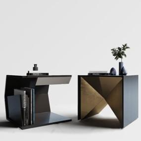 现代床头柜组合3D模型【ID:732400404】
