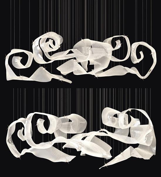新中式水晶吊灯3D模型【ID:846260587】