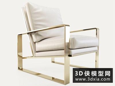 现代休闲椅国外3D模型【ID:729475834】