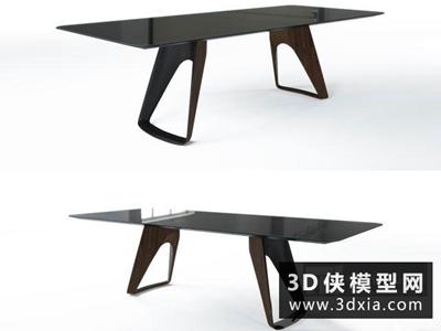 現代餐桌國外3D模型【ID:729403750】