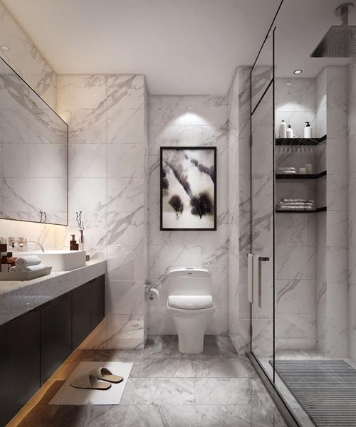 現代衛生間浴室3D模型【ID:545512574】