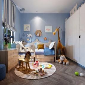 北欧儿童房3D模型【ID:127873230】
