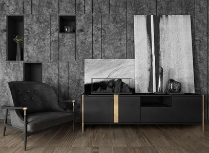现代电视柜3D模型【ID:941806907】