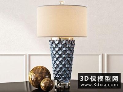 现代台灯国外3D模型【ID:829477942】