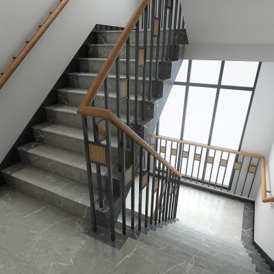 现代消防楼梯安全出口3D模型【ID:828473579】