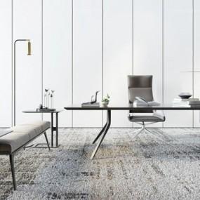 北欧书桌椅组合3D模型【ID:327911726】