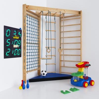 現代兒童游樂設施設備繩梯3D模型【ID:927839502】