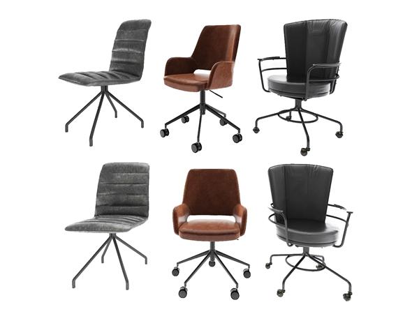 現代辦公椅3D模型【ID:746261476】