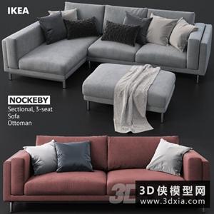 现代沙发国外3D模型【ID:729315688】