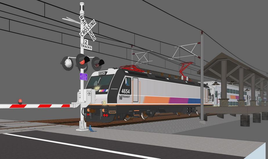 火車站SU模型【ID:536335767】