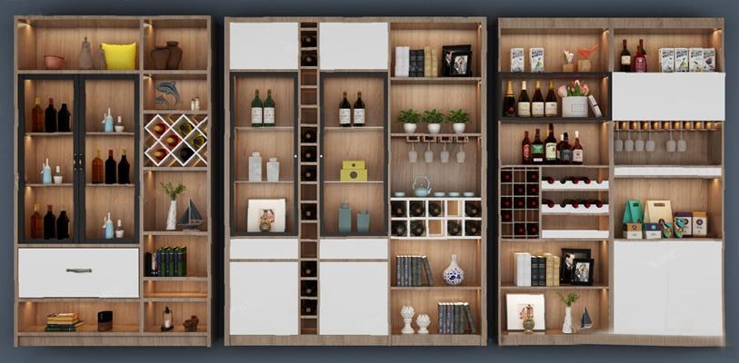 酒柜3D模型【ID:920018036】
