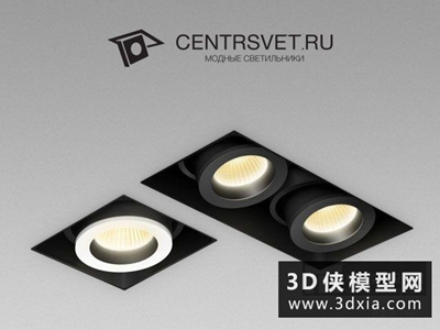 射燈國外3D模型【ID:929530115】