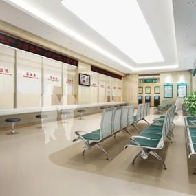 医院候诊大厅3D模型【ID:227877819】