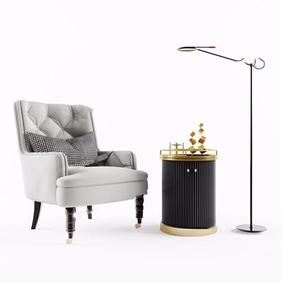 北欧单人沙发3D模型【ID:928330653】