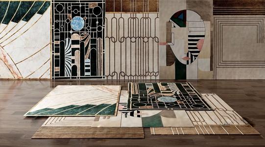 现代风格地毯3D模型【ID:241359625】