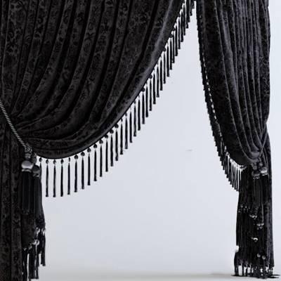现代窗帘3D模型下载【ID:319500830】