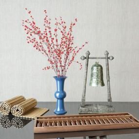 新中式装饰品摆件组合3D模型【ID:928203169】