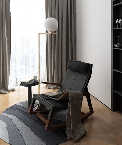现代休闲躺椅3D模型【ID:227882681】