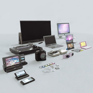 现代电子产品 现代家用电器 电视 相机 笔记本电脑