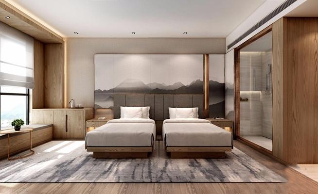 現代客房3D模型【ID:427991669】