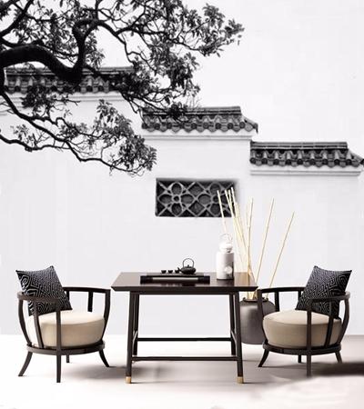 新中式茶桌椅3D模型【ID:328243645】