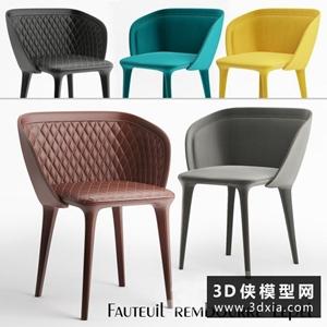 現代椅子國外3D模型【ID:729307831】